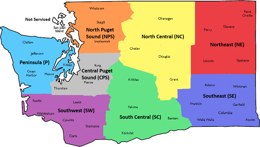 map of regions on contract